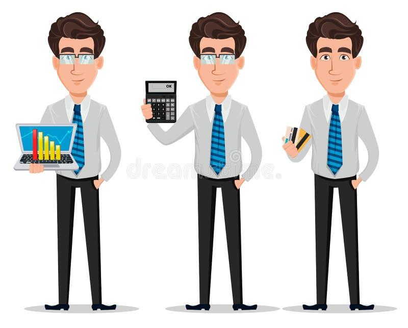 Bedrijfsmens in de kleren van de bureaustijl stock illustratie