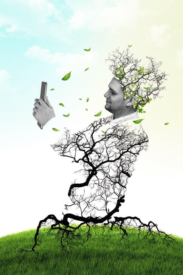 Bedrijfsmens die digitale tablet gebruiken royalty-vrije stock fotografie