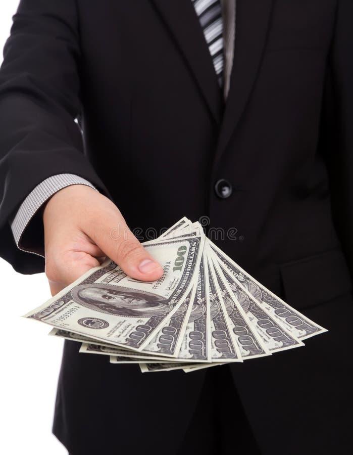 Download Bedrijfsmens Die Een Verspreiding Tonen Stock Afbeelding - Afbeelding bestaande uit zaken, munt: 54090421
