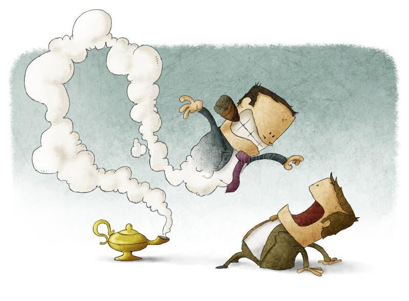 Bedrijfsmens met geniewerkgever stock illustratie