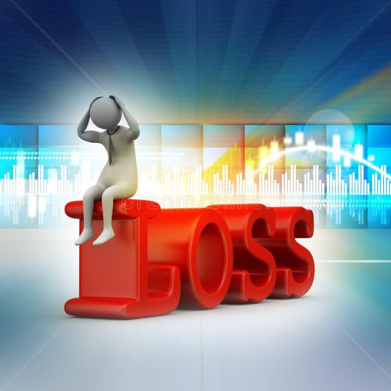 Bedrijfsmens in verlies vector illustratie