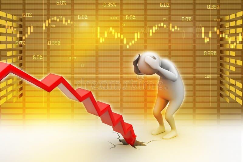 Bedrijfsmens in verlies stock illustratie