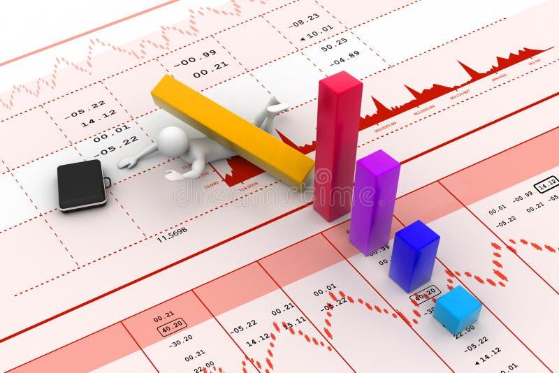 Bedrijfsmens in verlies van zaken stock illustratie