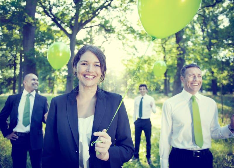 Bedrijfsmensen Bedrijfs Milieuconcepten royalty-vrije stock foto's