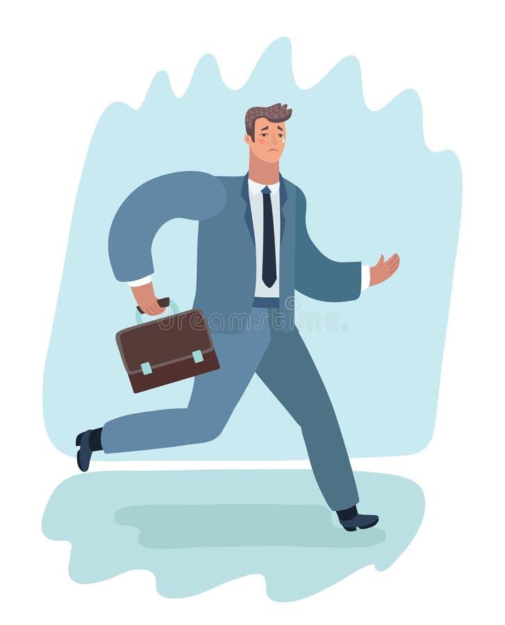 Bedrijfsmensen boring Maandag vector illustratie