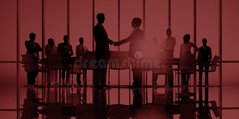 Bedrijfsmensen die het Collectieve Concept van de Handdrukgroet ontmoeten stock foto's