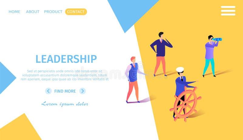 Bedrijfsmensen die op Denkbeeldige Boot drijven om te streven royalty-vrije illustratie