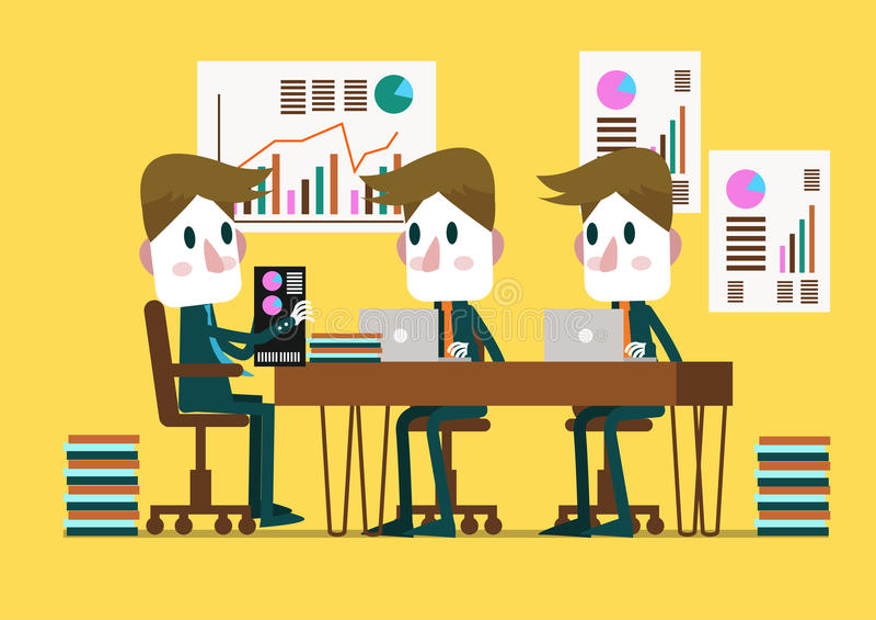 Bedrijfsmensen in een Conferentiezaal stock illustratie