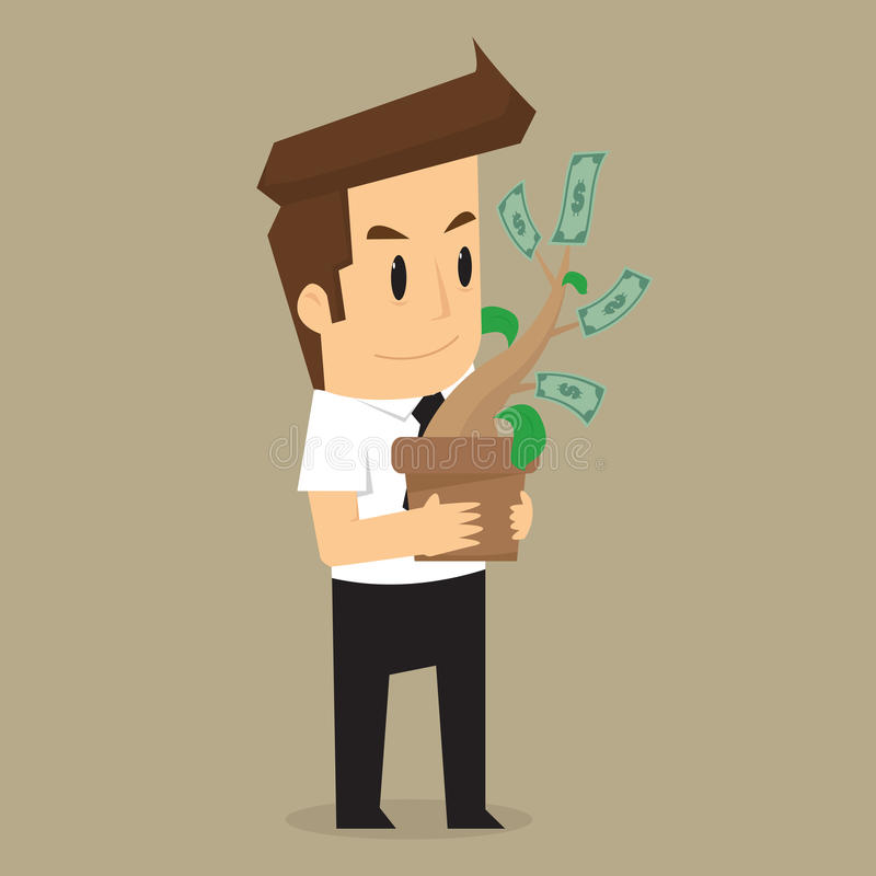 Bedrijfsmensen en de groei van de zaken vector illustratie