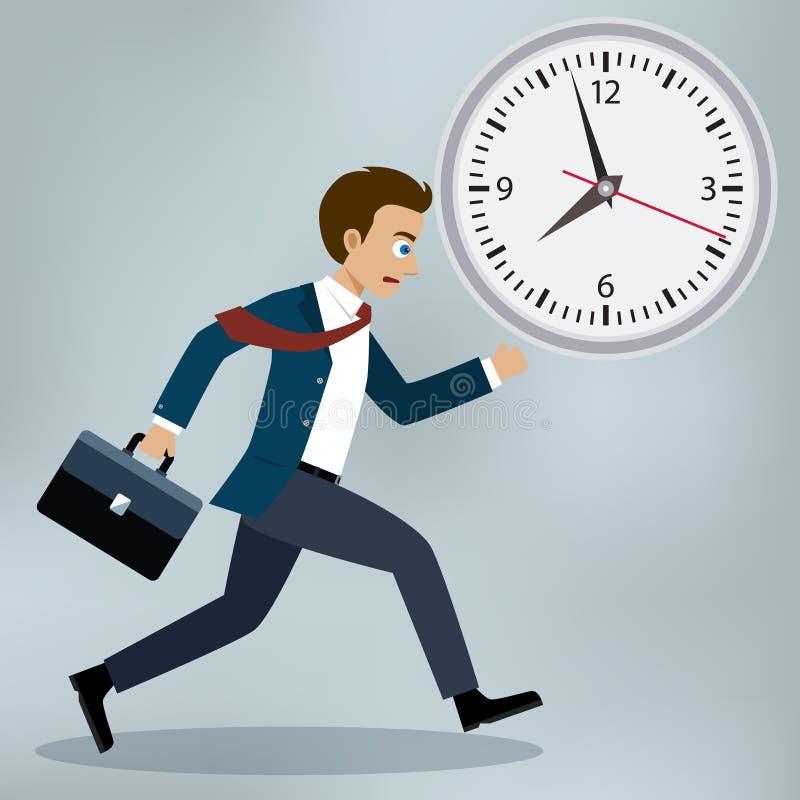 Bedrijfsmensen het lopen en haast omhoog stock illustratie