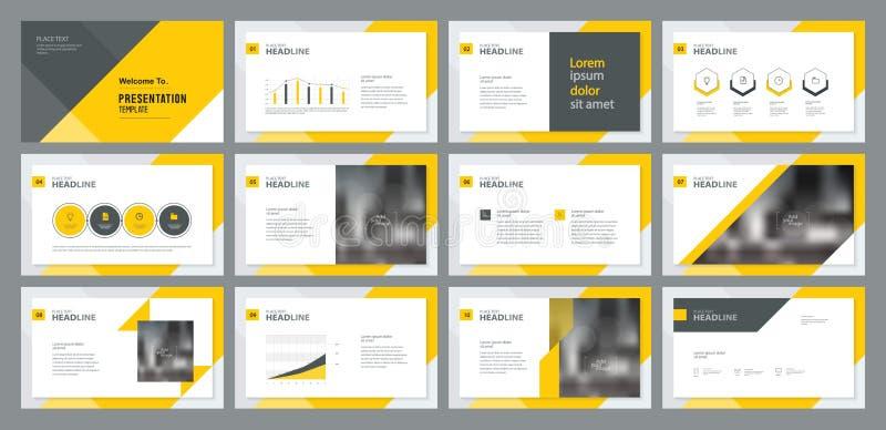 Bedrijfsmensen het werken en het project analyseren het ontwerp van de onderzoek processtemplate presentatie en het ontwerp van d stock illustratie