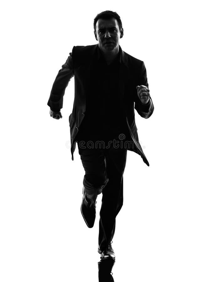 Bedrijfsmensen lopend silhouet royalty-vrije stock foto