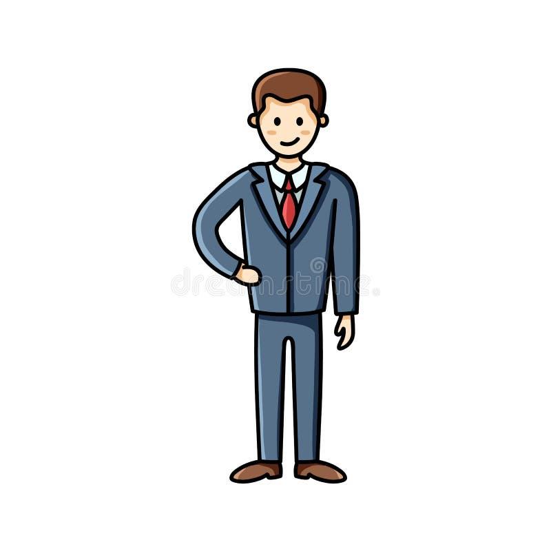 Bedrijfsmensen vlak pictogram Illustratiestuk Het Element van Infographic Op een roze achtergrond met palmbladen royalty-vrije illustratie