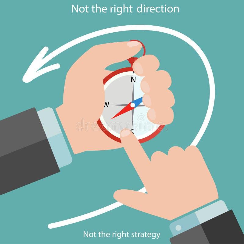 Bedrijfsmensenhanden met kompas vector illustratie