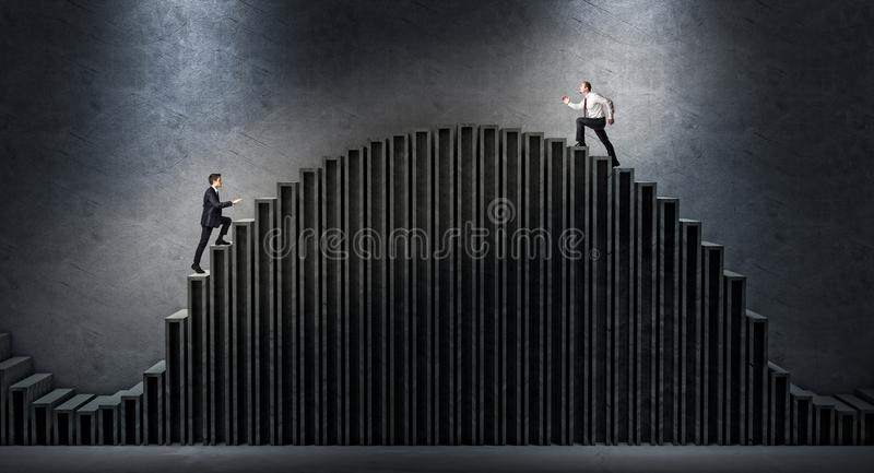 Bedrijfsmensenuitdaging stock foto