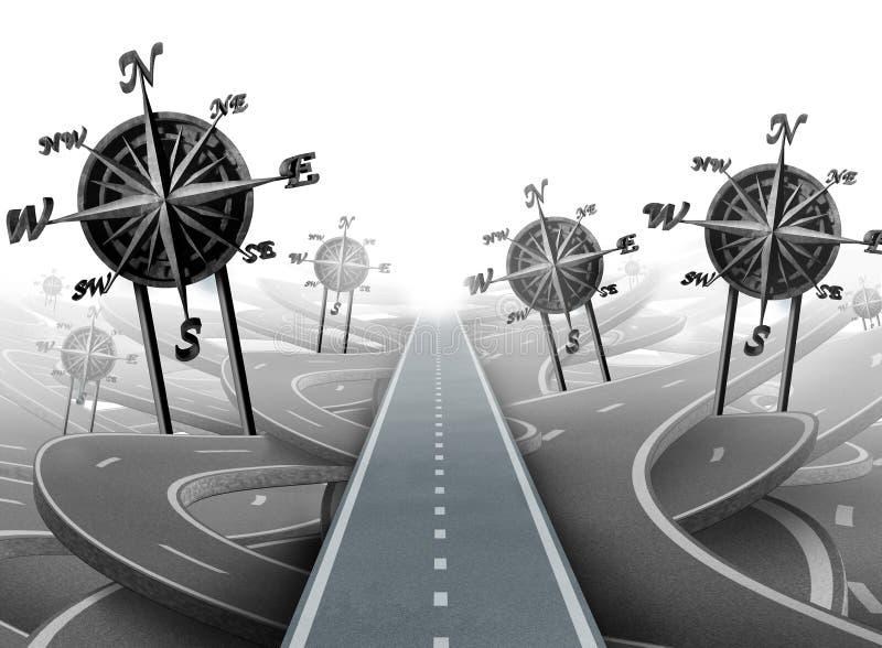 Bedrijfsnavigatiesucces royalty-vrije illustratie