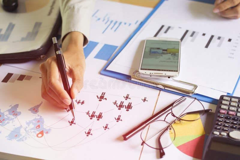 Bedrijfsnetwerk Pen Handle van Goede Groepswerk Planning royalty-vrije stock fotografie