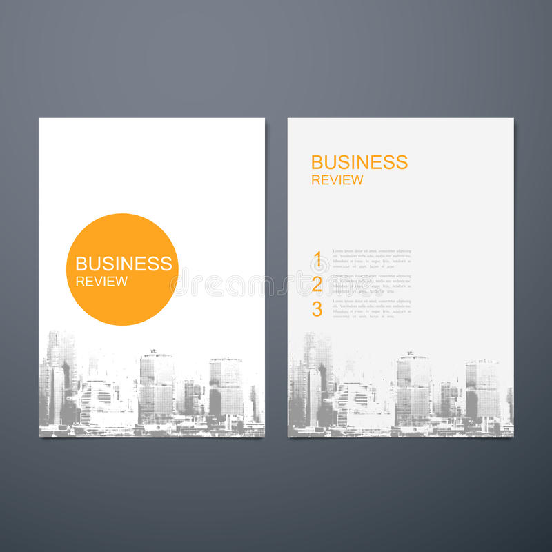 Bedrijfsoverzichtsbrochure vector illustratie