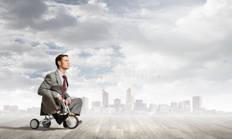 Bedrijfspersonenvervoerfiets stock afbeelding