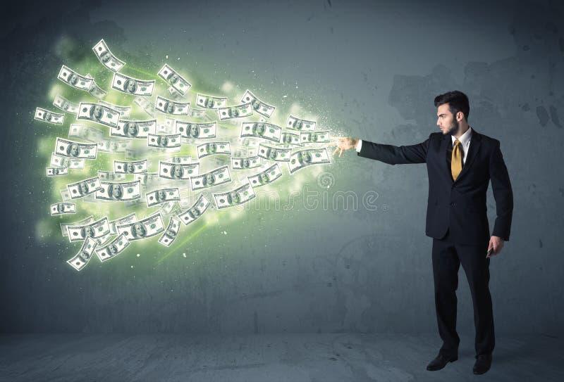 Download Bedrijfspersoon Die Heel Wat Concept Van Dollarrekeningen Werpen Stock Afbeelding - Afbeelding bestaande uit geluk, economie: 54089879