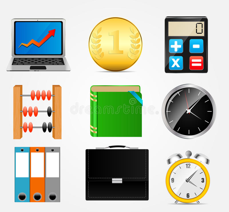 Bedrijfspictogram vectorillustratie set1 stock illustratie