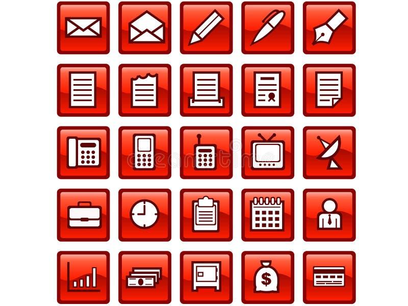 Bedrijfspictogrammen stock afbeelding