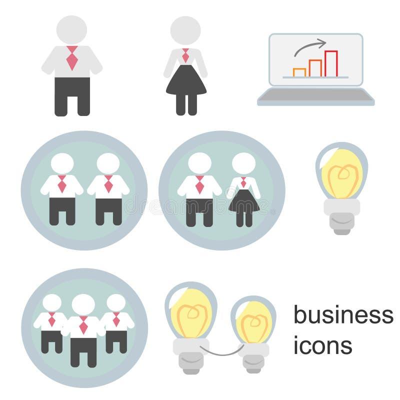 Bedrijfspictogrammen, bedrijfsmannen, bedrijfsvrouwen, bedrijfsmensen stock foto's