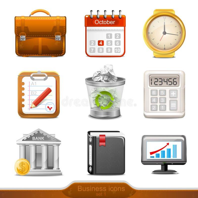 Bedrijfspictogrammen set1 vector illustratie