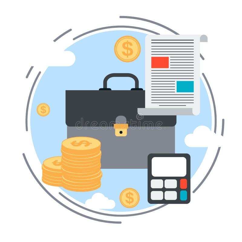 Bedrijfsportefeuille vectorconcept royalty-vrije illustratie