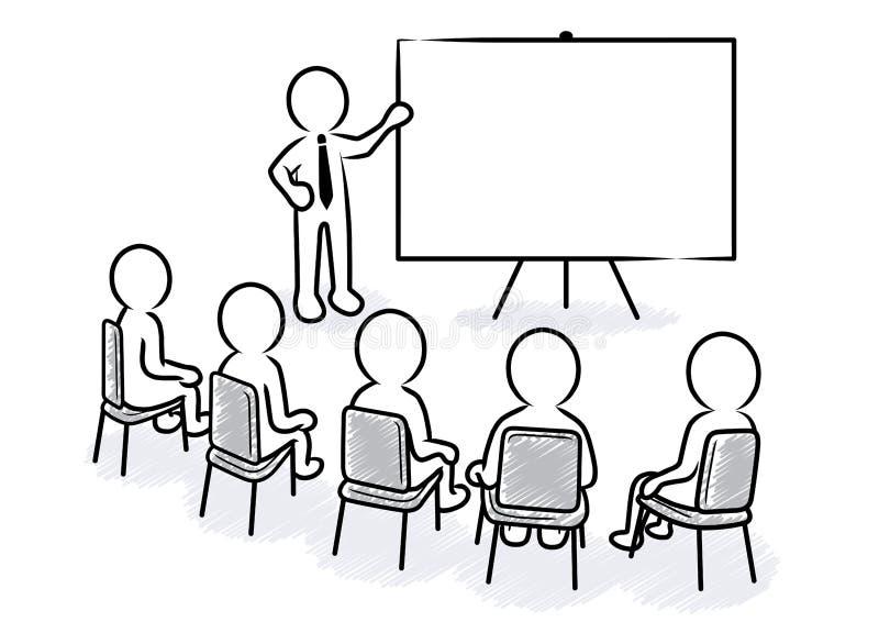 Bedrijfspresentatie: Spreker met lege raad en toeschouwers royalty-vrije illustratie