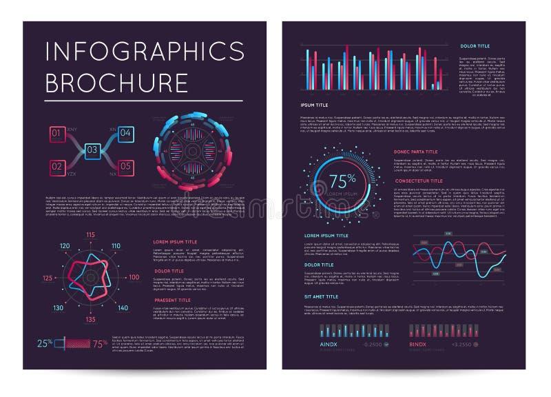 Bedrijfspresentatiemalplaatje met infographics vector illustratie