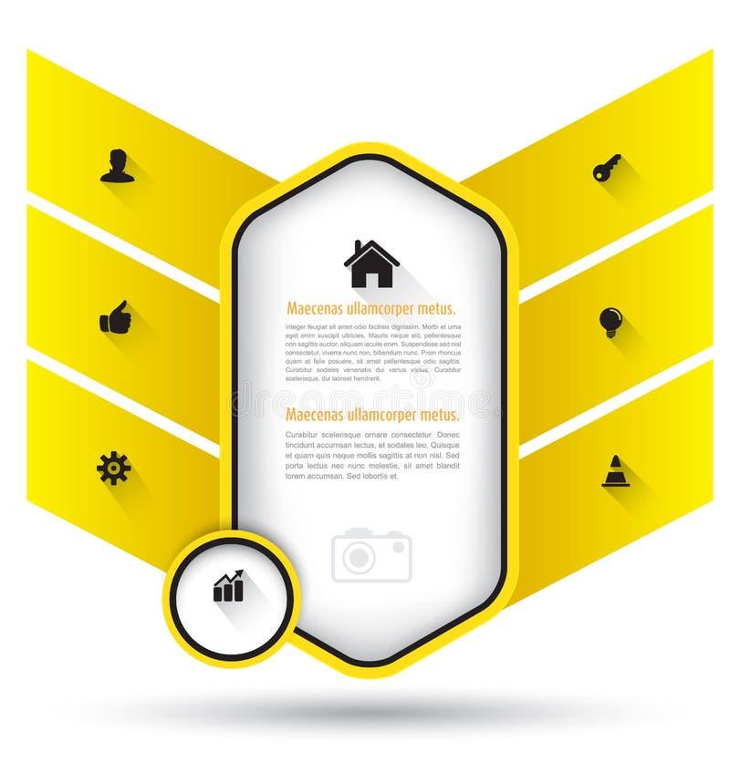 Bedrijfsprojectmalplaatje vector illustratie