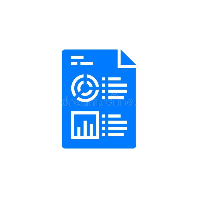 Bedrijfsrapportsymbool Statistieken en Analytics-de vector van het Dossierpictogram royalty-vrije illustratie
