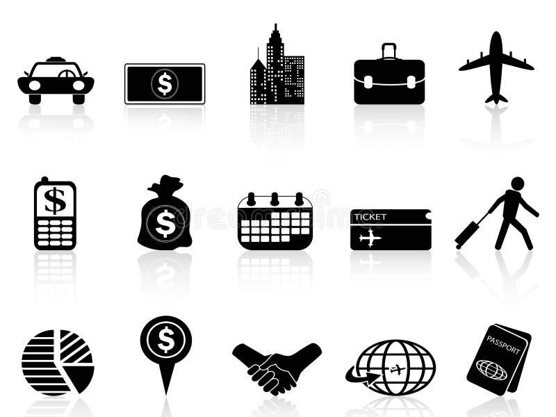 Bedrijfsreispictogrammen royalty-vrije illustratie