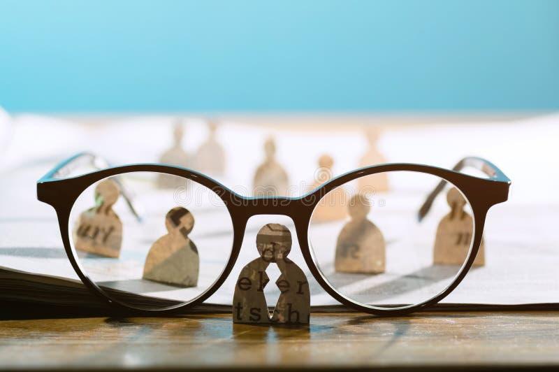 Bedrijfsrekrutering of het huren fotoconcept royalty-vrije stock foto's