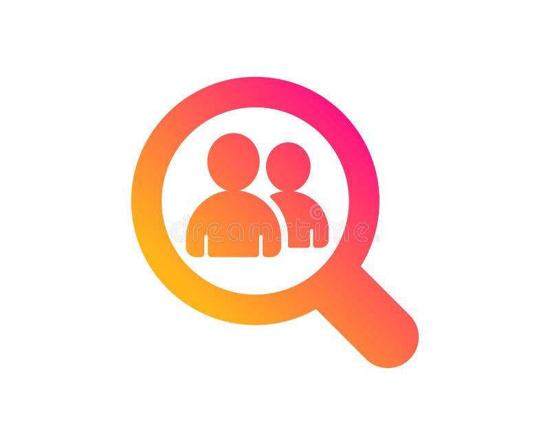 Bedrijfsrekruteringspictogram Onderzoekswerknemers Vector vector illustratie