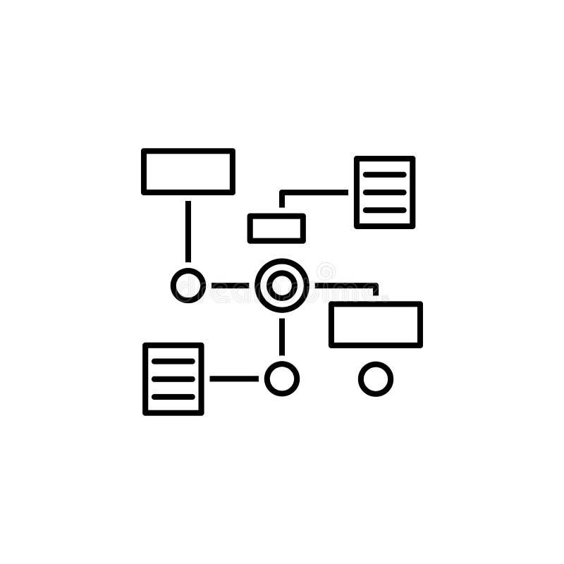 bedrijfsseo, het pictogram van de diagramlijn Groepswerk bij het idee De tekens en de symbolen kunnen voor Web, embleem, mobiele  royalty-vrije illustratie