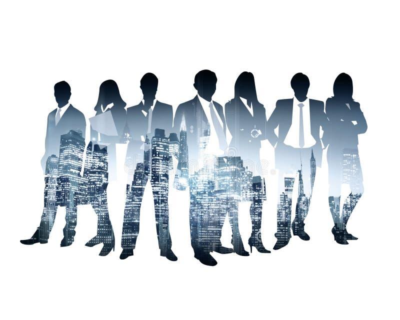 Bedrijfssilhouetsucces vector illustratie