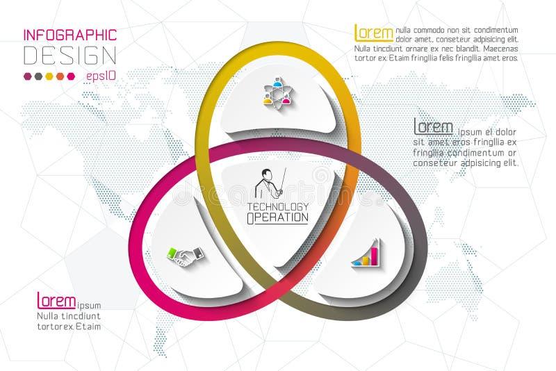 Bedrijfsstapopties en abstract de optiesmalplaatje van het infographicsaantal royalty-vrije illustratie