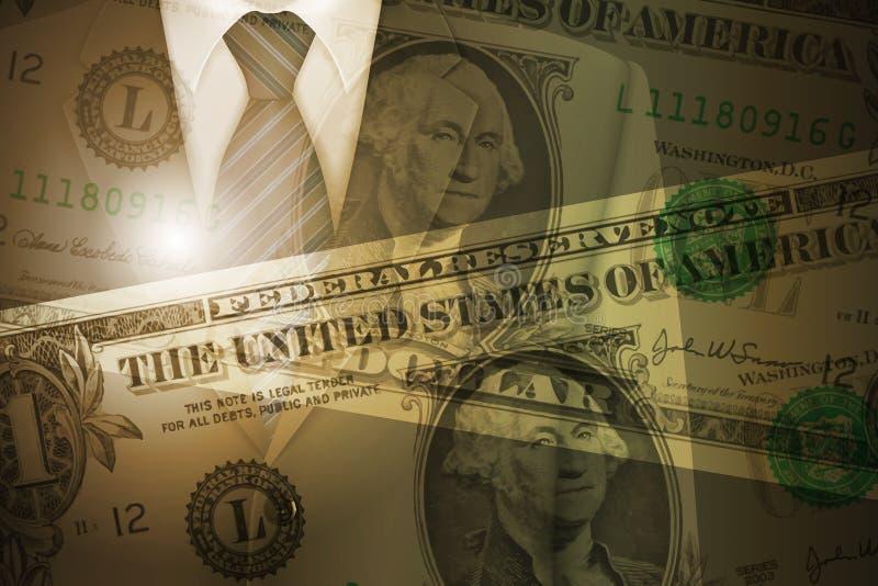Bedrijfssucces en de Achtergrond van het Visieconcept royalty-vrije illustratie