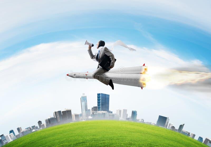 Bedrijfssucces en doelstellingen voltooiingsconcept stock afbeelding