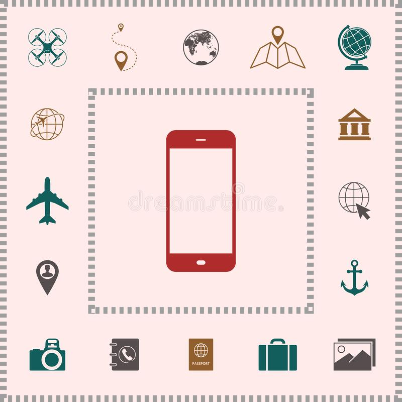 Bedrijfstelefoon met het lege scherm royalty-vrije illustratie