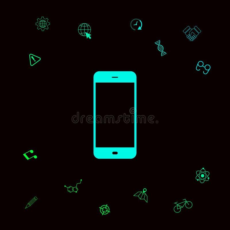 Bedrijfstelefoon met het lege scherm vector illustratie