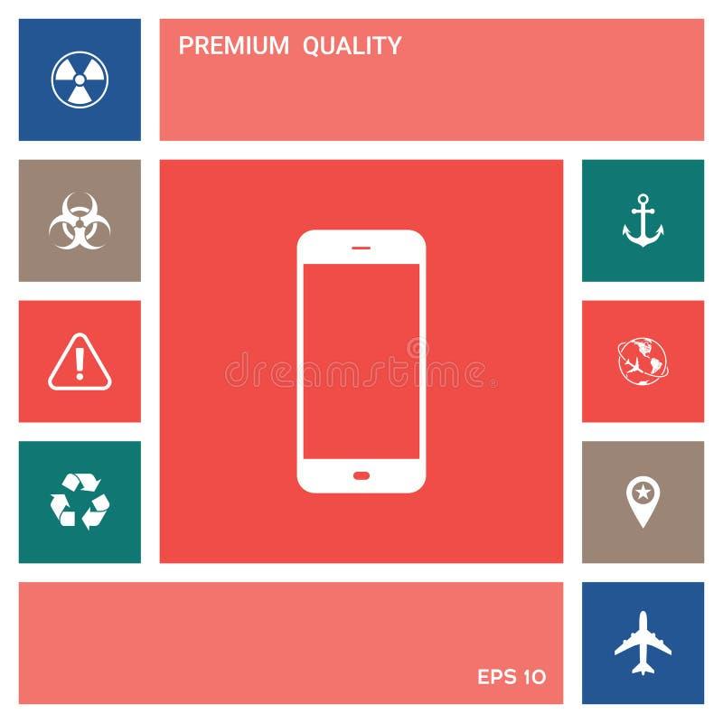 Bedrijfstelefoon met het lege scherm Elementen voor uw ontwerp stock illustratie