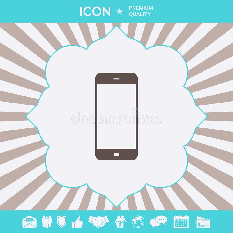 Bedrijfstelefoon met het lege scherm Grafische elementen voor uw ontwerp royalty-vrije illustratie