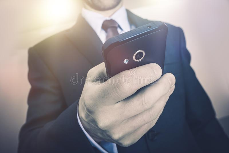 BedrijfsTelefoongesprek stock foto's