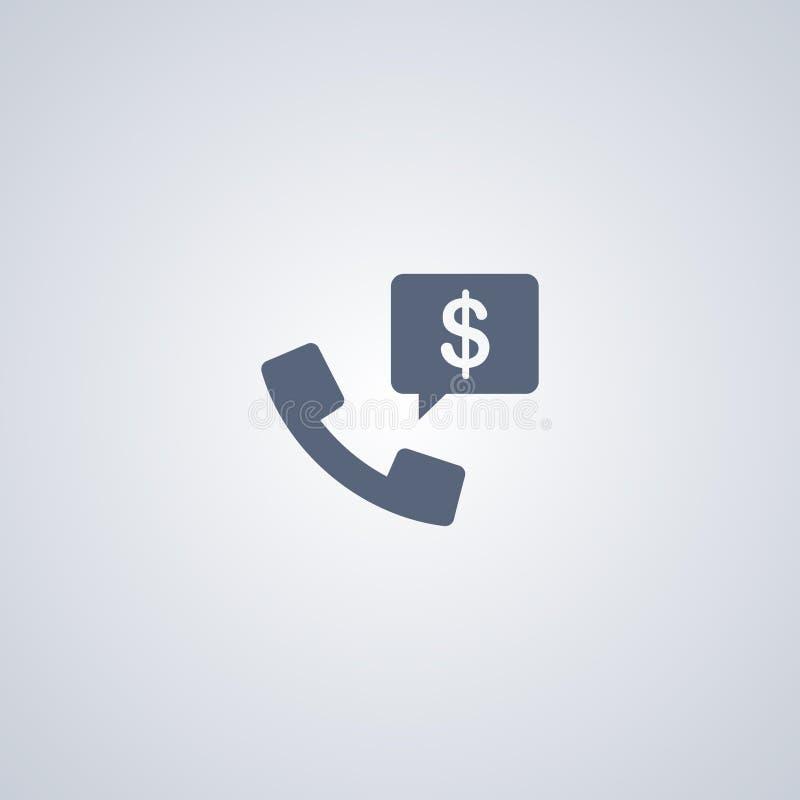 Bedrijfstelefoongesprek, vector beste vlak pictogram royalty-vrije illustratie