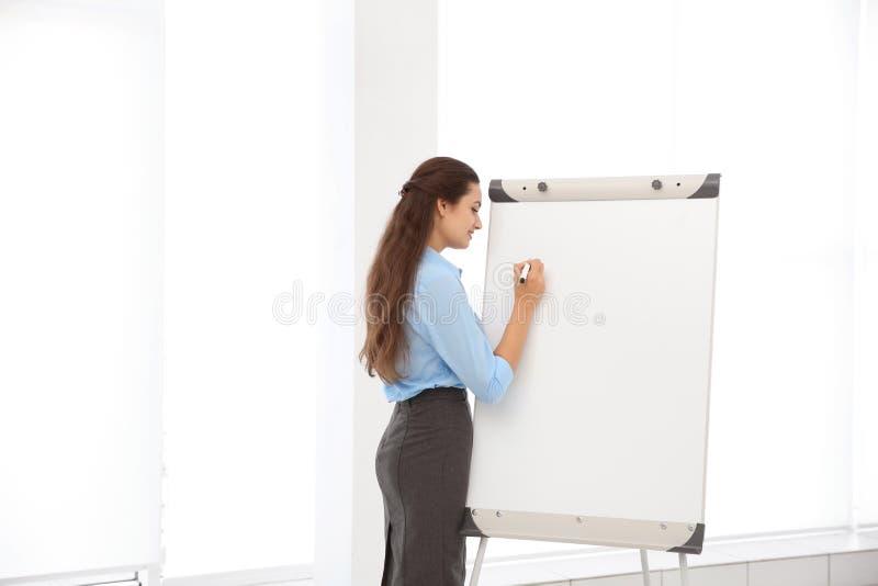 Bedrijfstrainer die presentatie geven royalty-vrije stock afbeelding