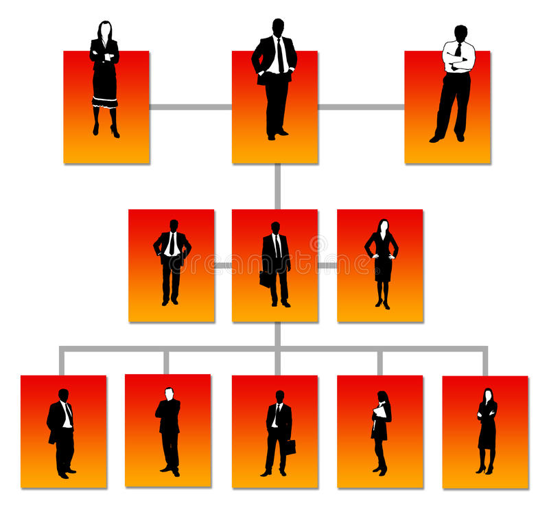 Bedrijfstructuur royalty-vrije illustratie