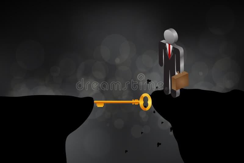 Bedrijfsuitdagingsconcept royalty-vrije illustratie